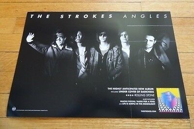 THE STROKES angles Promo flat display POSTER 12 x 17.5