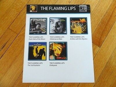 THE FLAMING LIPS soft bulletin Embryonic RECORD BIN CARD collectible 12 x 14