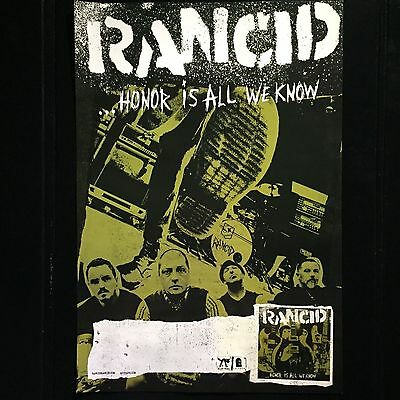 Rancid Poster, Honor is All We Know - Rare Original Album Advertising Poster