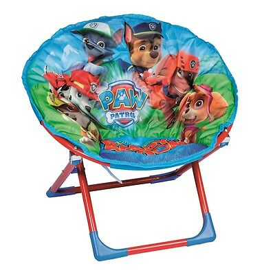 Children's Kids Blue Foldable Soft Padded Paw Patrol Moon Chair Seat 20055