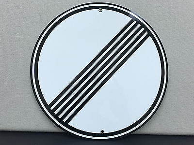 no speed limit european sign reproduction high quality baked resin metal