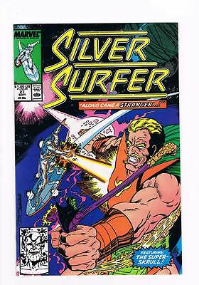 Silver Surfer # 27 Vol 2  The R Complex ! grade 8.5 scarce book !!