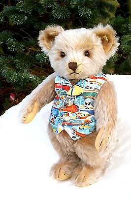 Antique / Vintage Large German Steiff Teddy Bear with button and tag  1950's