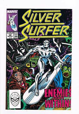 Silver Surfer # 32 Vol 2  A Choice of Dooms ! grade 8.5 scarce book !!