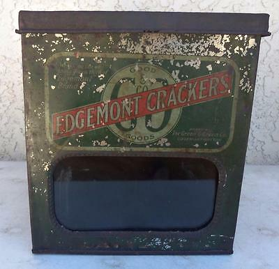 Edgemont Brand Crackers Goods Display Box Green & Green Co Display Advertisement