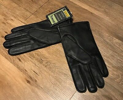 Mens Leather Black Gloves Lightly Lined New With Tag Size Xl
