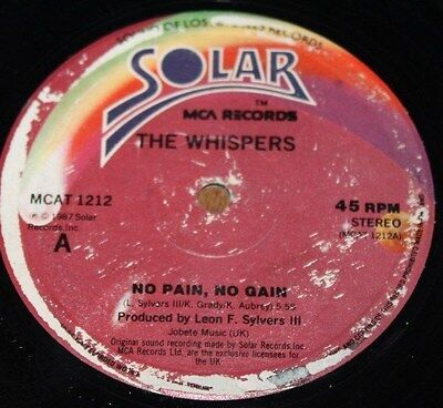 """THE WHISPERS * NO PAIN NO GAIN * Classic Soul Funk Boogie 12"""" Vinyl"""