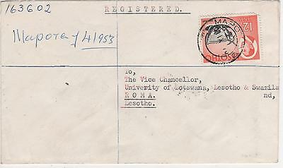 "Lesotho - 1970 Registered Letter ""mapoteng "" To Roma"