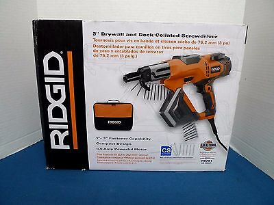 """RIDGID 3"""" Drywall and Deck Collated Screwdriver - NEW"""