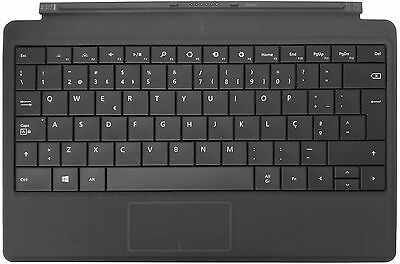 Microsoft Type Cover 2 Black Portuguese QWERTY Keyboard for Surface 1 & 2
