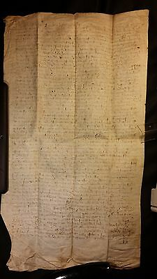 1325 - Very Rare Signed Grand Parchment Period CHARLES IV - 692 Years Old!