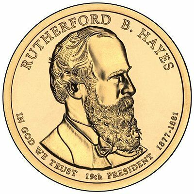 USA: 1 dolar 2011 D - (19 th president Rutherford B. Hayes 1877-1881)