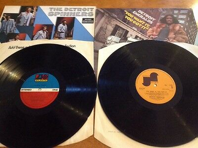 The Detroit Spinners + You Want It,You Got It - Detroit Emeralds -Two Lp's.Ex.