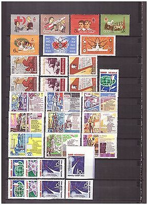 s15054) SPACE 1962/63  MNH** URSS RUSSIA 31v ( 2 Imperforated)