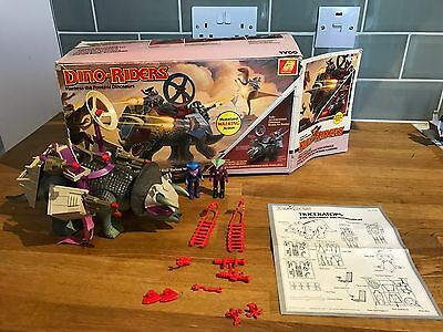 TYCO Dino Riders Triceratops Sidewinder Hammerhead Boxed Rare Vintage 1987 Toy