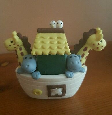 NOAH'S ARC - Cake Topper. New Baby Christening Gift. Decorative Ornament.