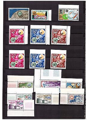 s15060) SPACE 1963/64 MNH** French Antarctic Mali Tchad .. 16v (3v Imperforated)