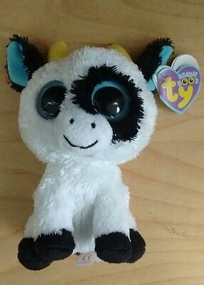 """TY BEANIE BOO'S - DAISY the 6"""" COW - MINT with MINT TAGS"""