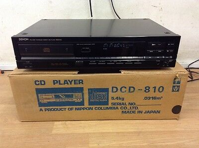 Denon DCD-810 Single CD Compact Disc Player, Vintage Audio Japan tested black