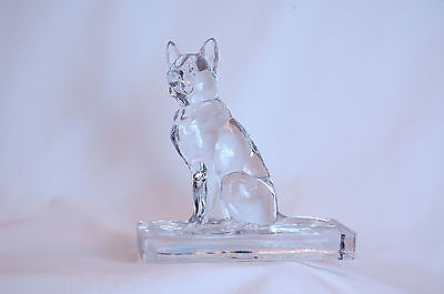 Pair of Identical Czechoslovakian Glass Figures of German Shepard Dogs, 1950s