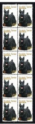 Scottish Terrier Year Of Dog Strip Of 10 Mint Stamps 1