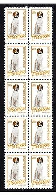 Pointer Hunting Dogs Strip Of 10 Mint Stamps #2