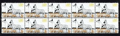 Great Dane Strip Of 10 Mint Year Of The Dog Stamps