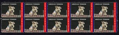 Airedale Terrier Year Of Dog Mint Strip Of 10 Stamps 2