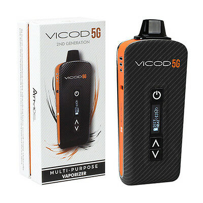 New Atmos Portable VICOD 5G 2nd Generation Dry Herb Waxy Oil Vaporizer in BLACK