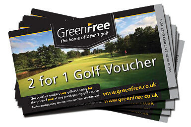 5 GREENFREE 2 for 1 Vouchers Valid until 30th June 2017