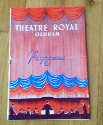 THEATRE ROYAL OLDHAM 1949 variety programme