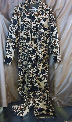 10X Brand Mens Insulated Hunting Coveralls Gore-Tex Thinsulate 42-44 Camo Hood L