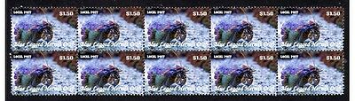 Blue Legged Hermit Crab Strip Of 10 Mint Stamps 1