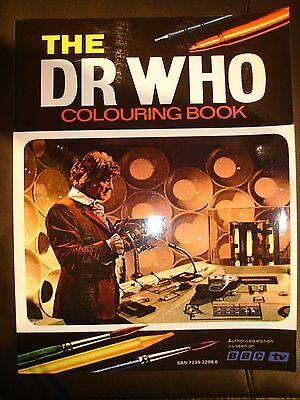 The Dr Who Colouring Book Jon Pertwee 1973 Repro New