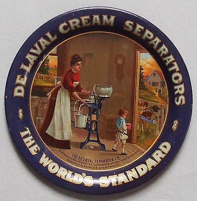 Near Mint De Laval Cream Separator Advertising Tip Tray Great Graphic & Color