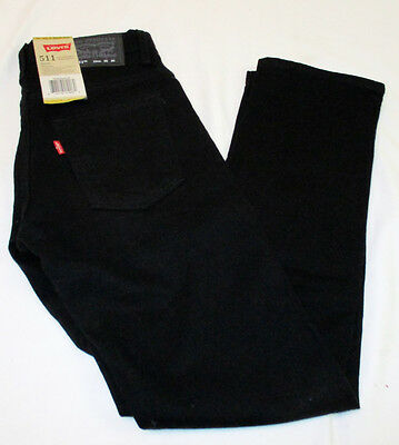 LEVI'S 511 Slim Stretch Skinny Jeans with Adjustable Waistband - Size 12- 26x26
