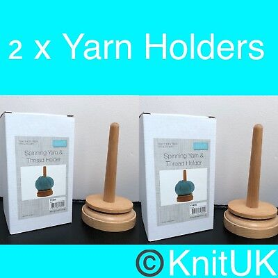 Wooden Spinning Yarn & Thread Holders - Classic Knit. 2 units
