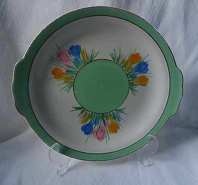Clarice Cliff Sandwich Plate In The Crocus Pattern