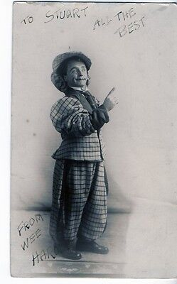 Wee Harold Signed RP Postcard Dwarf Circus Clown