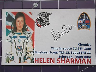 Astronaut Helen Sharman Autographed 3x5 Index Card