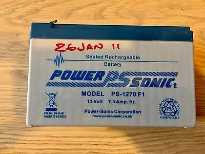 Power Sonic Sealed Rechargeable 12V 7Amp Battery - PS-1270 F1