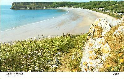 Lydstep Haven - Permbrokeshire - Wales - Postcard 1984