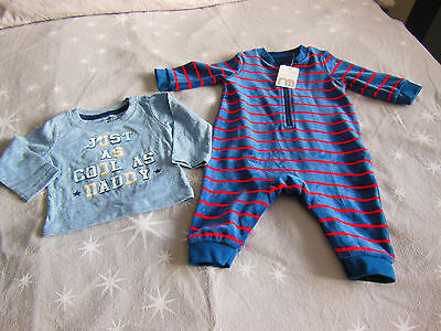 Baby boys small bundle top and baby gro 3-6 months BNWT