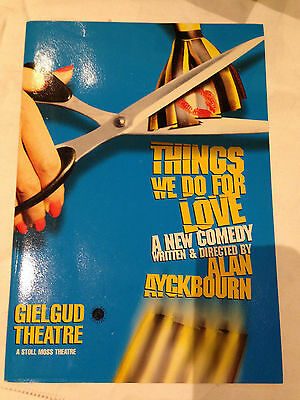 Jane Asher, Programme for Things we do for Love at The Gielgud Theatre - 1998