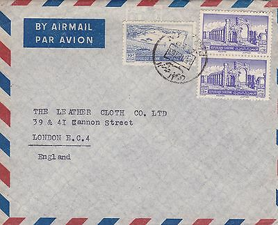 Syria 1953 Airmail Cover Aleppo to London UK 40p Rate