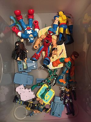 Imaginext Marvel Action Figures Job Lot Toy Bundle Hasbro Lotr Spiderman