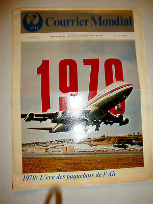 Jal Japan Air Lines Courrier Mondial 1969- 1970