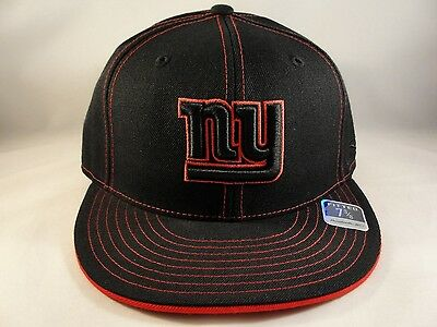 the best attitude 6b361 acae3 NFL New York Giants Reebok Size 7 3 8 Fitted Hat Cap Black Red