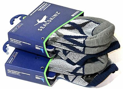 2 x SealSkinz Thin Socklets Grey/Black 2 Pairs of Waterproof Ankle Socks XL NEW