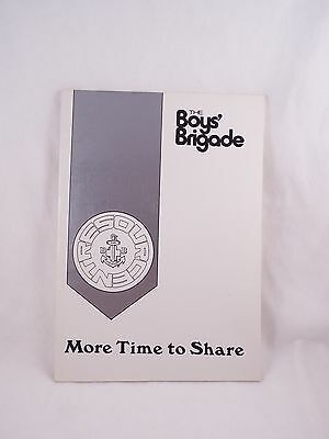 Boys' Brigade More Time To Share Resource Booklet Boy's Bbs B.b.